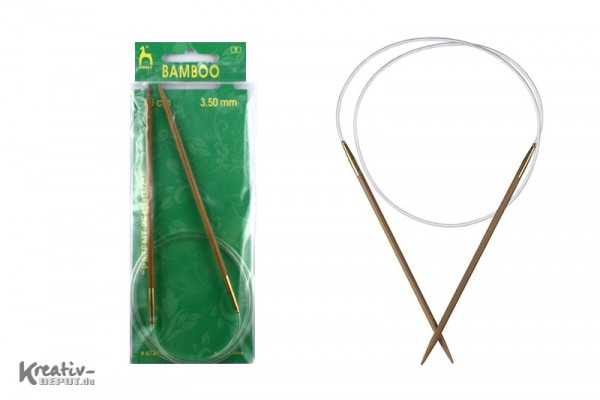 Rundstricknadel, Bamboo, 3,5mm - 80cm