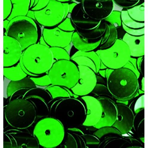 Pailletten, rund, flach, 6 mm, 4000 St, hellgrün