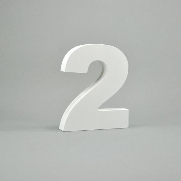"""MDF- Zahlen """"2"""", weiß"""