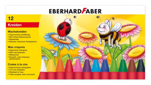EBERHARD FABER Wachsmalkreiden, 12 Farben