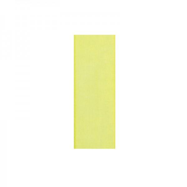 Chiffonband, 6mm breit, 10m lang - hellgelb