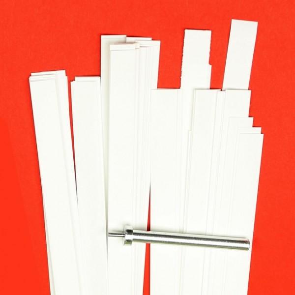 Quilling Papierstreifen 10mm X 450mm Naturweiß Kreativ Depot