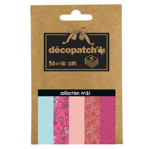 Decopatch Pocket Papier, 5er Sortiment, Collection No 21