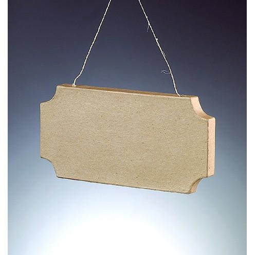 Türschild, Rechteck runde Ecken, 20 x 10 x 1,5 cm