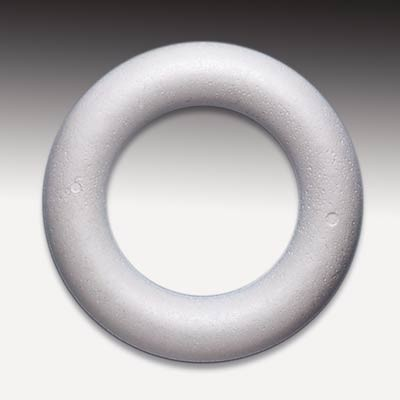 Styropor-Ring, Halbring (Römer), weiß, 20 cm Ø