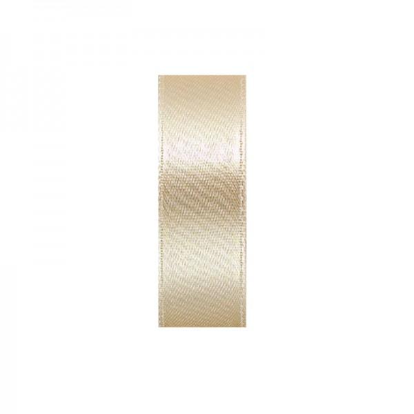 Satinband, doppelseitig, Länge 5 m, Breite 15 mm, beige