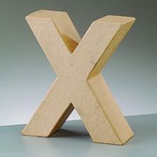 Buchstabe X, 17,5 x 5,5 cm, aus Pappmachè