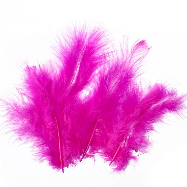 Marabufedern, ca. 10 cm, 20 St, pink