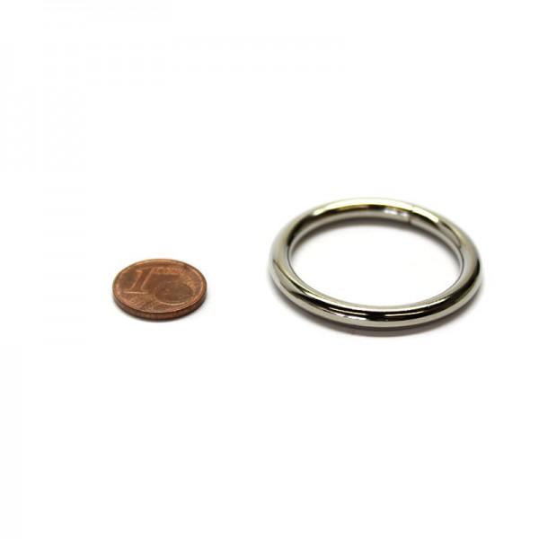 Rundring 30 x 4,0mm Stahl, Silbern vernickelt