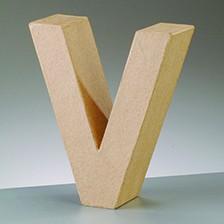 Buchstabe V, 5x2 cm, aus Pappmaché