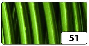 Aluminiumdraht, 2 mm Ø, 5 m, grün