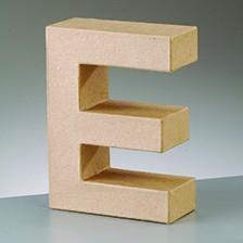Buchstabe E, 10 x 3 cm, aus Pappmaché