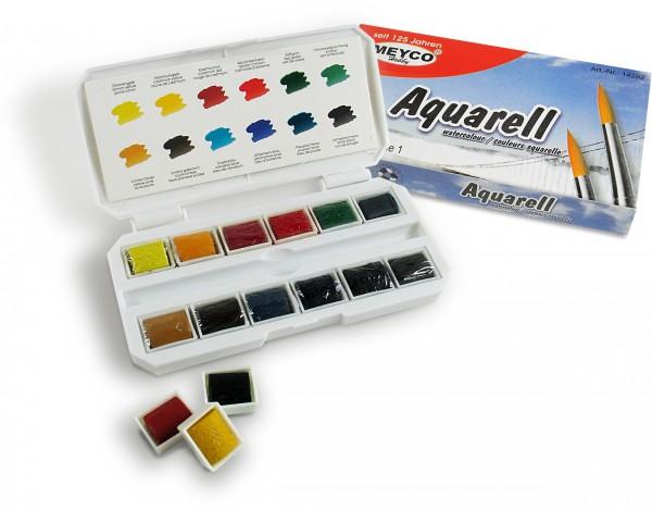 Aquarell-Farbkasten, 12er Set