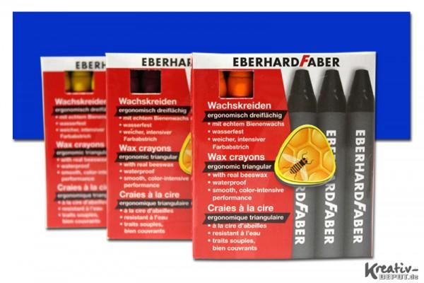 EBERHARD FABER Wachsmalkreiden, 12 Stück, kobaltblau