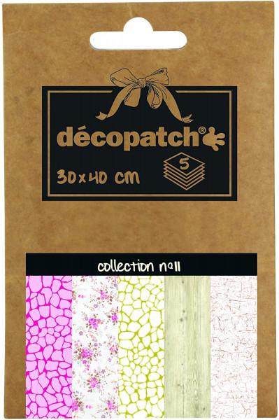 Decopatch Pocket Papier, 5er Sortiment, Collection No 11