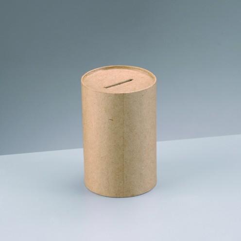 Spardose Sammelbüchse, aus Pappmachè, 8 x 12 cm