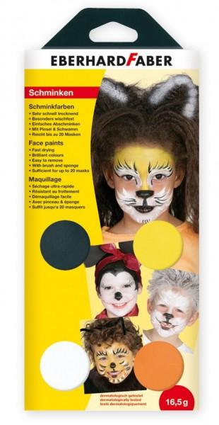 Eberhardt Faber Schminkfarben-Set Tiere, 4 Farben