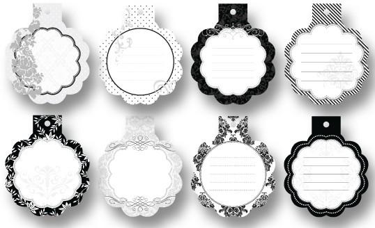 Geschenkanhänger Mini Cutties, 8 Stück, Klassik