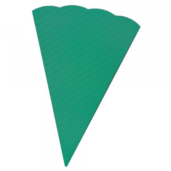 Schultüten Rohling W-Welle, 20 x 68 cm, Grün
