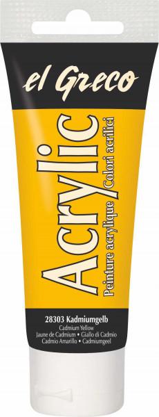 Acrylfarbe el Greco Acrylic, 75 ml - Kadmiumgelb