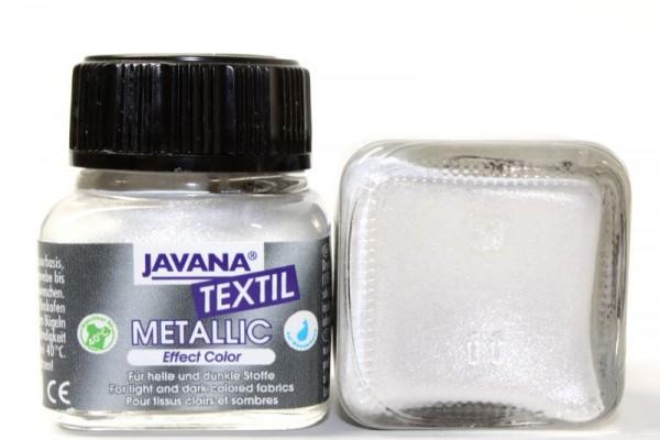 JAVANA TEXTIL METALLIC, 20 ml, Metallic-Weiß