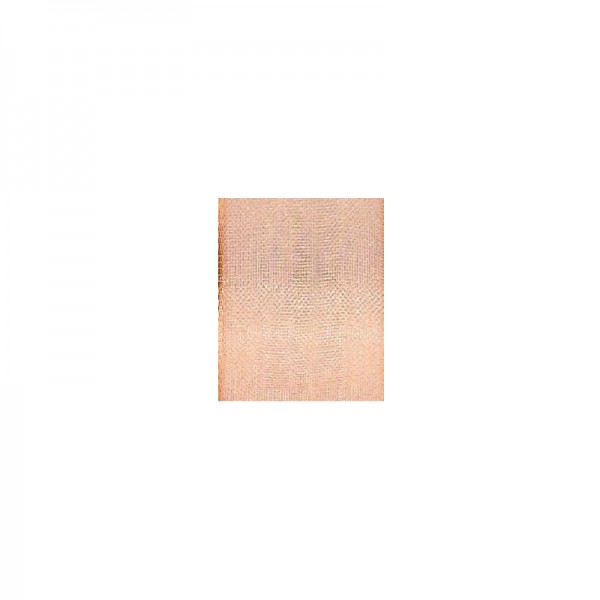 Chiffonband mit Drahtkante, 15mm breit, 5m lang - kupfer