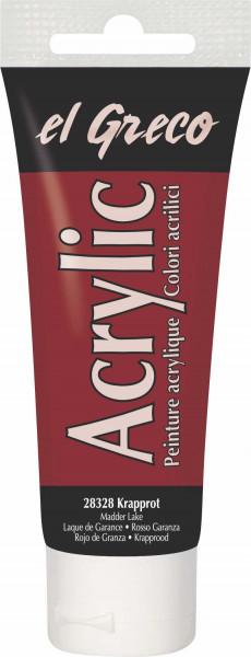 Acrylfarbe el Greco Acrylic, 75 ml - Krapplack
