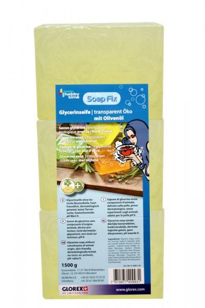 Glycerinseife, mit Olivenöl, Öko transparent, 1500 g