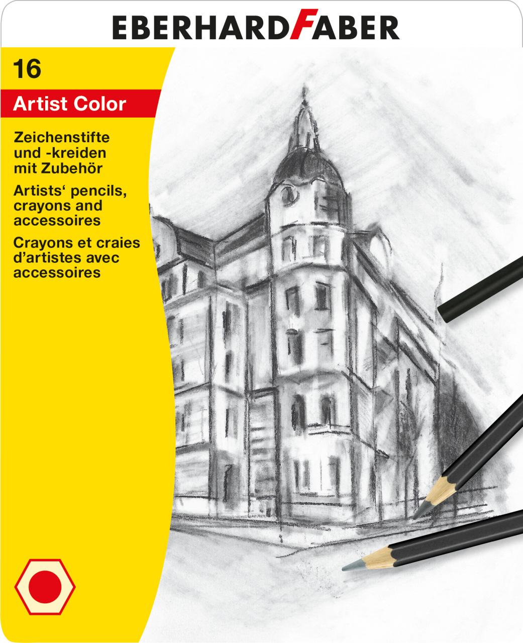 eberhard faber artist color skizzenset 16 teilig kreativ depot. Black Bedroom Furniture Sets. Home Design Ideas