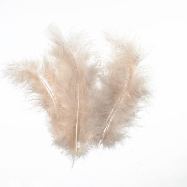 Marabufedern, ca. 10 cm, 20 St, beige