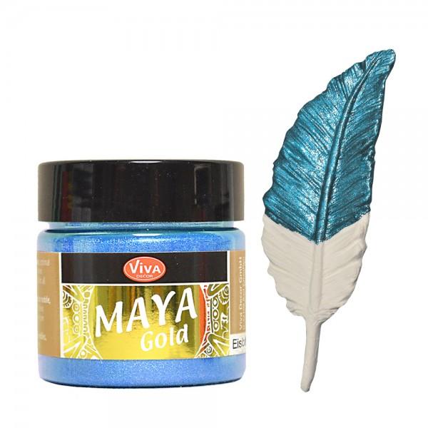 Viva Decor Maya-Gold, 45 ml, Eisblau