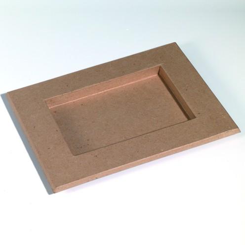 Bilderrahmen, aus Pappmachè, 30 x 24 cm / 19,5 x 14 cm
