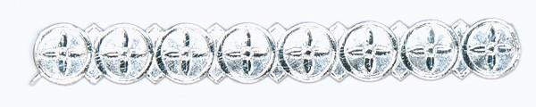 Wachsborte, Muster 3, 24 cm, 5 Stück, silber
