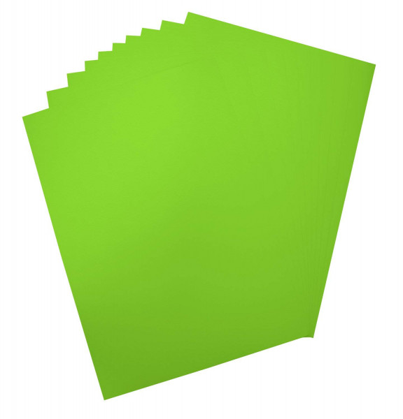 Plakatkarton, 10er Pack, 380 g/m², 48 x 68 cm, leuchthellgrün