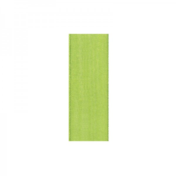 Chiffonband, 6mm breit, 10m lang - moosgrün