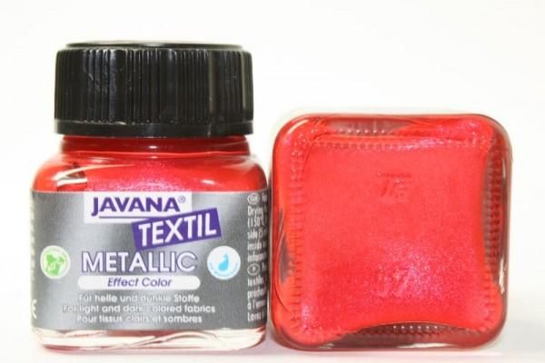 JAVANA TEXTIL METALLIC, 20 ml, Metallic-Rot