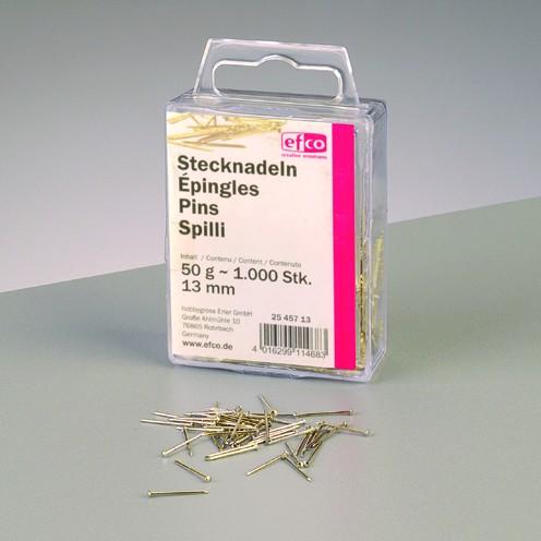 Stecknadeln, Eisen vergoldet, 13 mm, 50 g