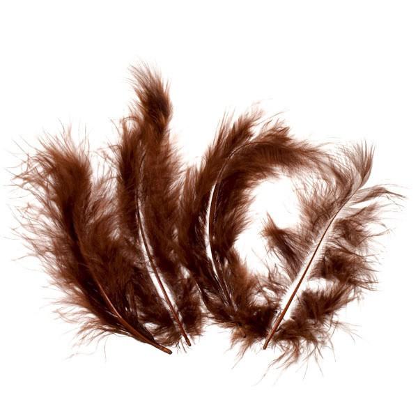 Marabufedern, ca. 10 cm, 20 St, braun
