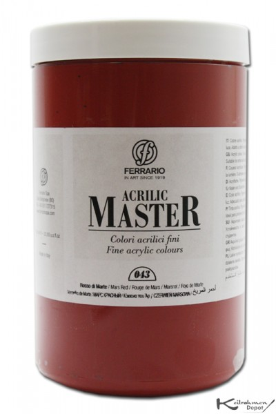 Ferrario Acrilic Master Acrylfarbe, 1000 ml, Marsrot
