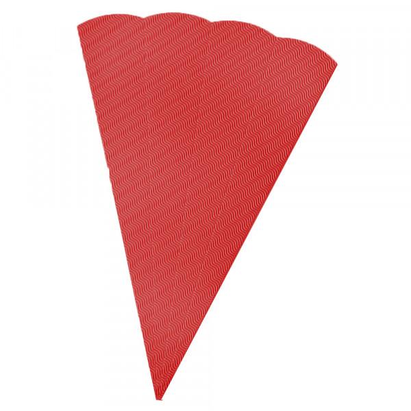 Schultüten Rohling W-Welle, 20 x 68 cm, Rot