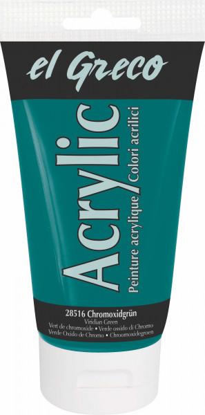 Acrylfarbe el Greco Acrylic, 150 ml - Chromoxidgrün