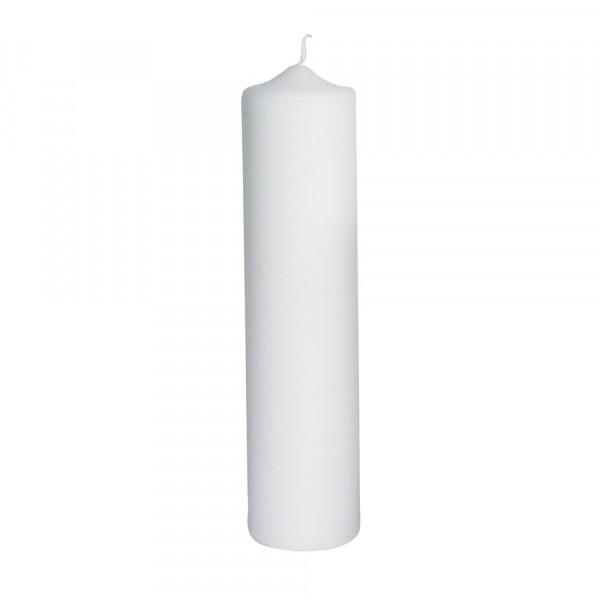 Stumpenkerze, 6cm ø weiß, 25cm