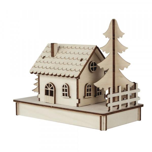 Holzbausatz Häuschen, 17,5x9,4x14cm