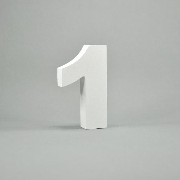 """MDF- Zahlen """"1"""", weiß"""