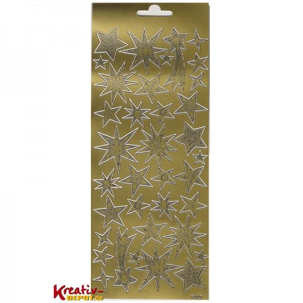 Sticker Sterne & Sternschnuppen, gold