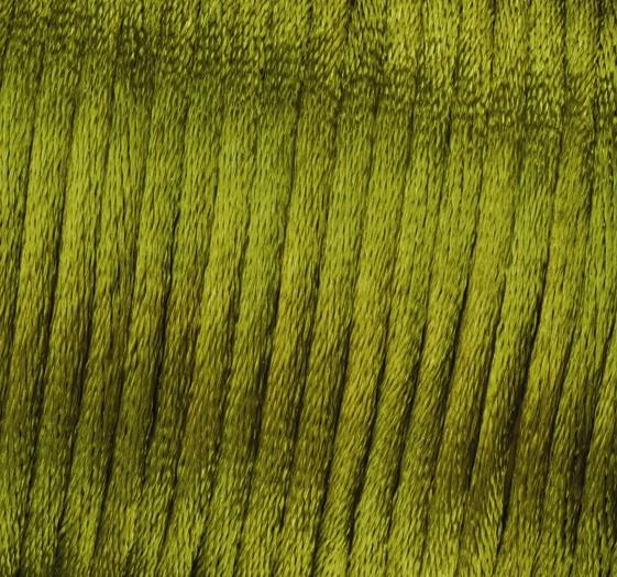 Satin Flechtkordel, Länge 50 m, Stärke 2 mm, grün