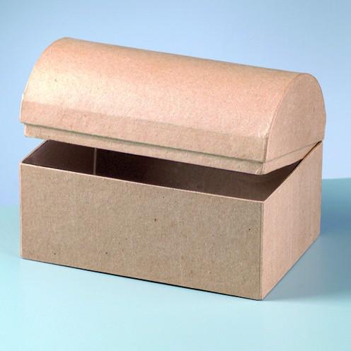 Box Truhe, aus Pappmachè, 18 x 12 x 12,5 cm