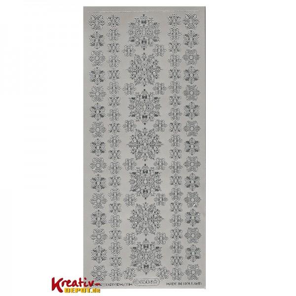 Sticker verschiedene Schneeflocken (2) - silber
