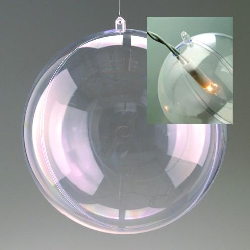Teilbare Acrylkugel 20 cm Ø - mit Loch