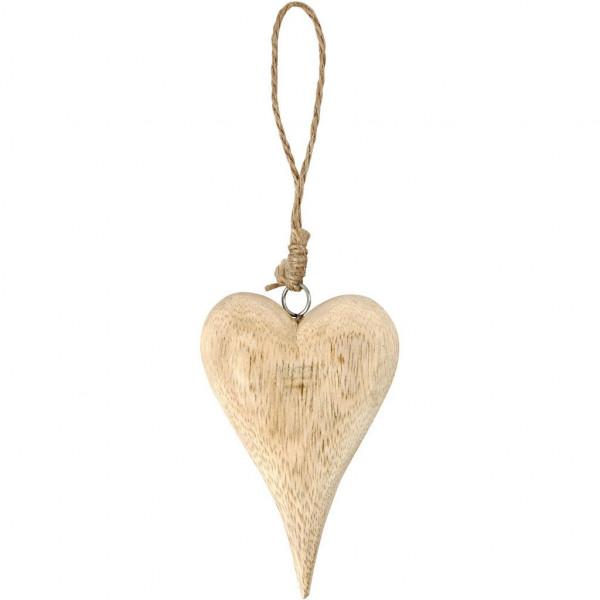 Herz aus Holz, 12 cm